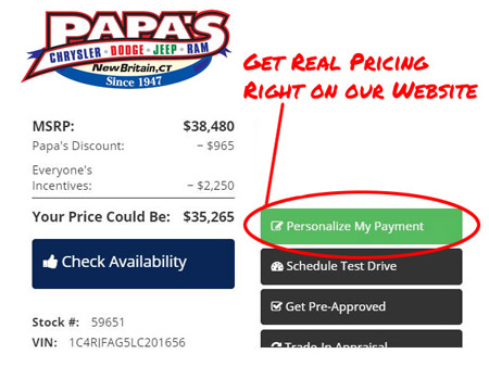 Personalize your payments at Papa's